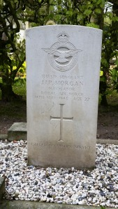 John Morgan's gravestone in Sleen cemetery